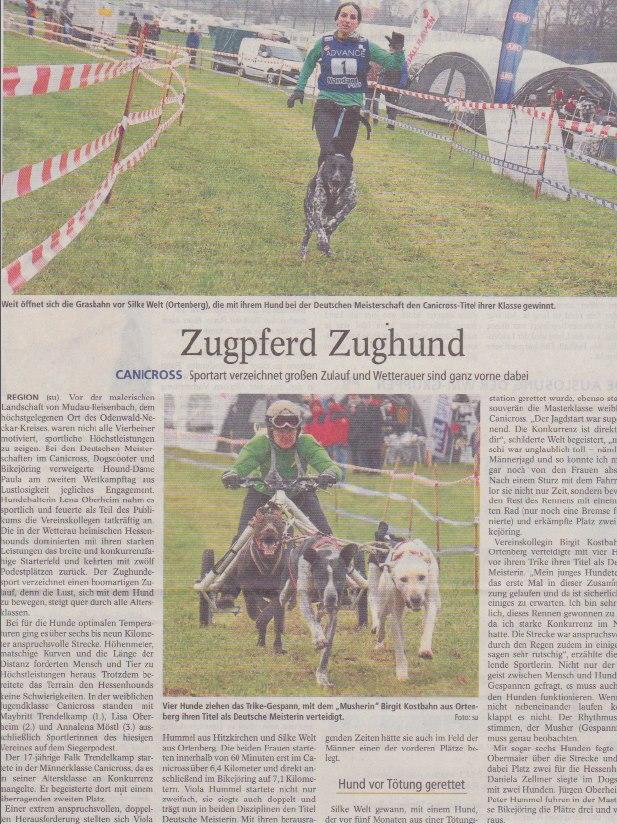 Zeitungsbericht des Wetterauer Kreisanzeiger